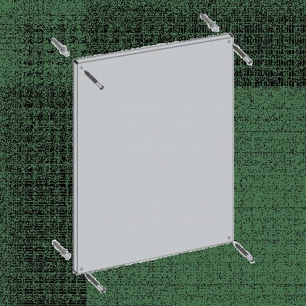Vialux 4201PL 44x124cm Flat Safety Mirror | Aluminium Frame fixing points