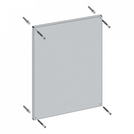 Vialux 6801PL 64x84cm Flat Safety Mirror | Aluminium Frame fixing