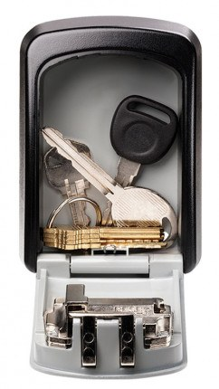 Opened Master Lock 5401D Key Access Safe - Notice the large space for keys.