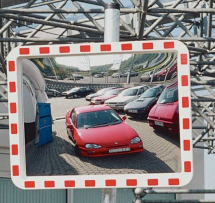 View-Minder 2 Acrylic Traffic Convex Mirror - 243.12.742
