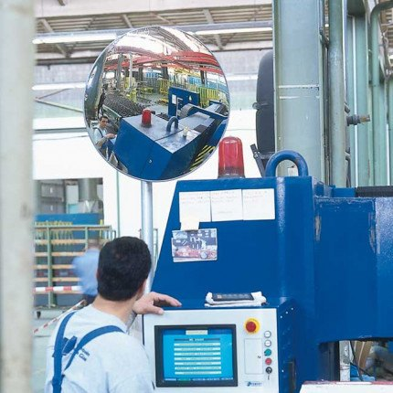 Detective-X 400mm Convex Acrylic Mirror for industrial safety