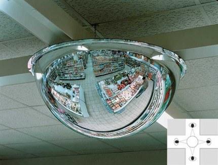 Panoramic Ceiling Dome 360deg 600mm Acrylic Mirror