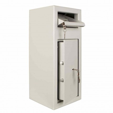 Protector MP1 Day Deposit Safe Key Lock door and deposit drawer open