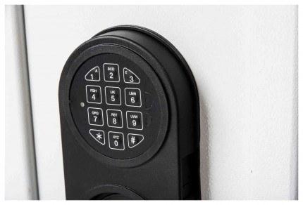 De Raat Protector MP1E £2000 Electronic Deposit Safe - lock detail