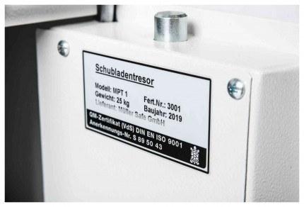 De Raat Protector MP1E £2000 Electronic Deposit Safe = door bolts