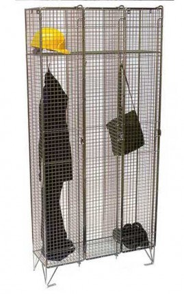 1 Tier Wire Mesh Locker Nest of 3 Example of Finished Product