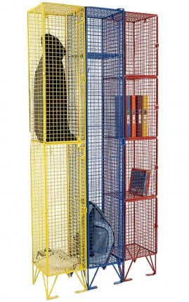 Colour Options for the Wire Mesh Lockers