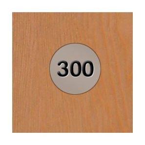 Probe Steel Laminate Inset 1 Door Locker number plate