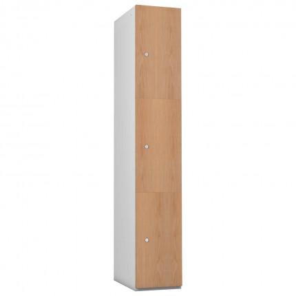 Probe 3 Door Oak TimberBox MDF Woodgrain Door Steel Locker