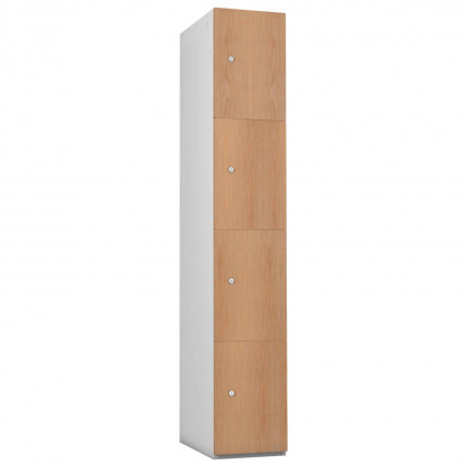 Probe 4 Door Oak TimberBox MFC Woodgrain Door Steel Locker