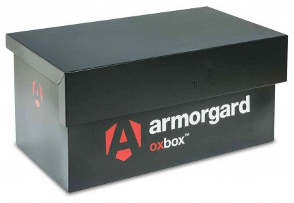 The small Armorgard Oxbox OX5 Security Van Tool Box 810mm wide - closed