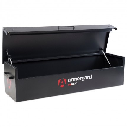 Armorgard Oxbox OX6 Large Van Box 1800mm wide empty with lid open