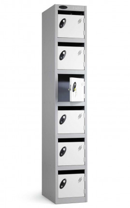 Probe Postbox 6 Door Locker 305x305 Key Lock white doors closed