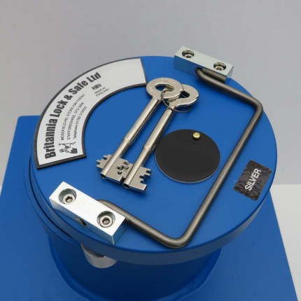 "Britannia Winston CS005 12"" Round Door Silver Floor Safe £6000 - Key Lock"
