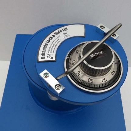 "Britannia Winston CS005 12"" Round Door Silver Floor Safe £6000 - Dial Combination lock"
