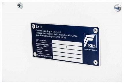De Raat DRS Prisma 1-1K EN1143-1 Class 1 Certificate