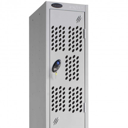 Extra ventilation with the optional perforated door on a Probe Silver Locker