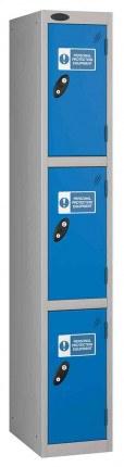 Probe PPE 3 Door Personal Protection Equipment Combination Locking Locker
