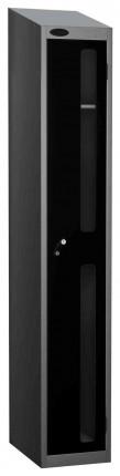 Probe Vision Panel 1 Door Padlock  Locking Anti-Stock Theft Locker sloping top fitted black