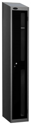 Probe Vision Panel 1 Door Electronic Stock Theft Locker black