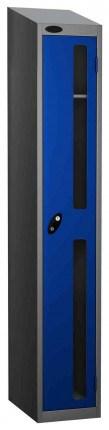 Probe Vision Panel 1 Door Padlock Locking Anti-Stock Theft Locker sloping top fitted  blue