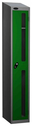 Probe Vision Panel 1 Door Key Locking Anti-Stock Theft Locker sloping top fitted green