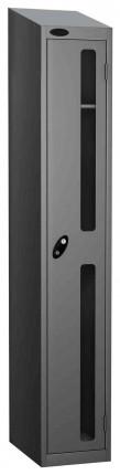 Probe Vision Panel 1 Door Electronic Stock Theft Locker silver grey
