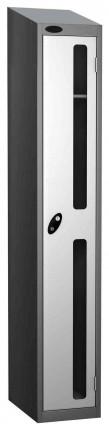 Probe Vision Panel 1 Door Electronic Stock Theft Locker white