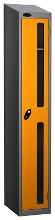 Probe Vision Panel 1 Door Padlock Locking Anti-Stock Theft Locker sloping top fitted yellow