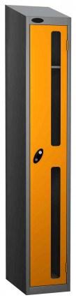 Probe Vision Panel 1 Door Electronic Stock Theft Locker yellow