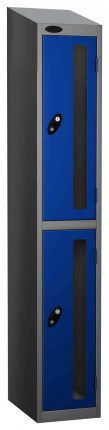 Probe Vision Panel 2 Door Combination Locking Anti-Stock Theft Locker sloping top fitted blue