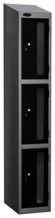 Probe Vision Panel 3 Door Electronic Stock Theft Locker black