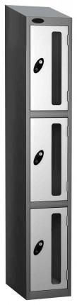 Probe Vision Panel 3 Door Electronic Stock Theft Locker white
