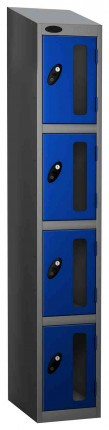 Probe Vision Panel 4 Door Combination Locking Anti-Stock Theft Locker sloping top fitted blue