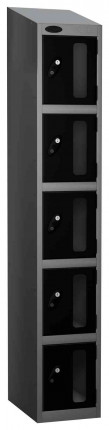 Probe Vision Panel 5 Door Combination Locking Anti-Stock Theft Locker sloping top fitted  black