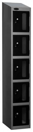 Probe Vision Panel 5 Door Electronic Locking Anti-Stock Theft Locker sloping top fitted  black