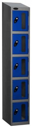 Probe Vision Panel 5 Door Key Locking Anti-Stock Theft Locker sloping top fitted blue
