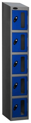 Probe Vision Panel 5 Door Padlock Locking Anti-Stock Theft Locker sloping top fitted blue