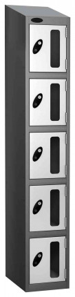 Probe Vision Panel 5 Door Electronic Locking Anti-Stock Theft Locker sloping top fitted  white