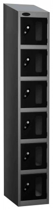 Probe Vision Panel 6 Door Combination Locking Anti-Stock Theft Locker sloping top fitted black