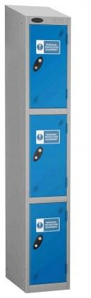 Probe PPE 3 Door Personal Protection Equipment Key Locking Locker sloping top