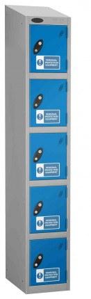 Probe PPE 5 Door Personal Protection Equipment Key Locking Locker sloping top