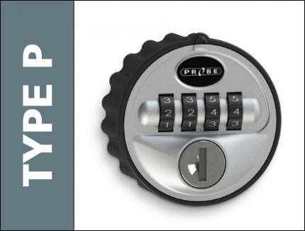 Probe Type P Reprogrammable 4 Digit Mechanical Combination Lock