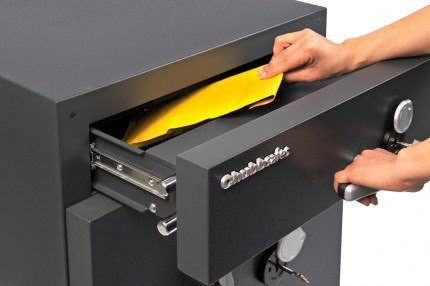 Chubbsafes ProGuard DT60 Eurograde 2 Cash Deposit Safe - £10,000 Cash Insurance Rated - in use