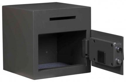 De Raat Protector DS Deposit 1E Electronic Letter Slot Drop Safe - door open