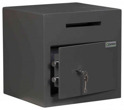 De Raat Protector DS Deposit 1K Key Locking Letter Slot Drop Safe - door ajar