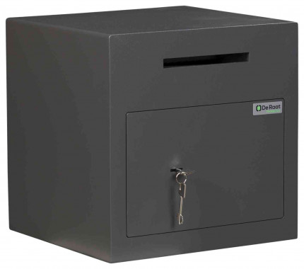 De Raat Protector DS Deposit 1K Key Locking Letter Slot Drop Safe - door locked