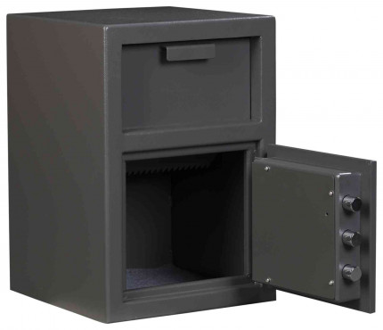 De Raat Protector Deposit Cash Plus 1E Electronic Security Safe - main door open