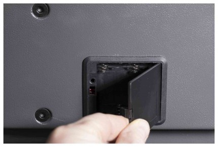 De Raat Protector DS Deposit 1E Electronic lock battery compartment