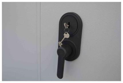 De Raat Protector Plus Door handle and key lock